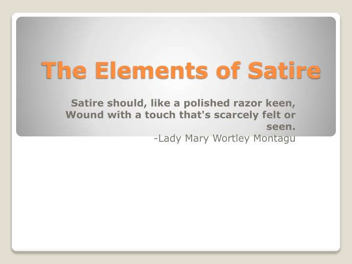 the elements of satire n.