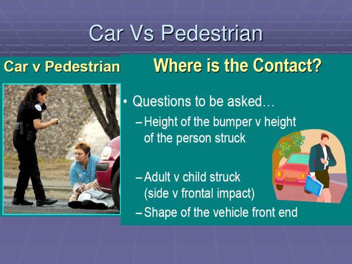 Car Vs Pedestrian