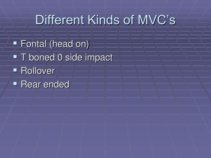 Different Kinds of MVC's