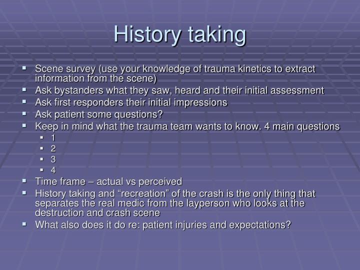 History taking