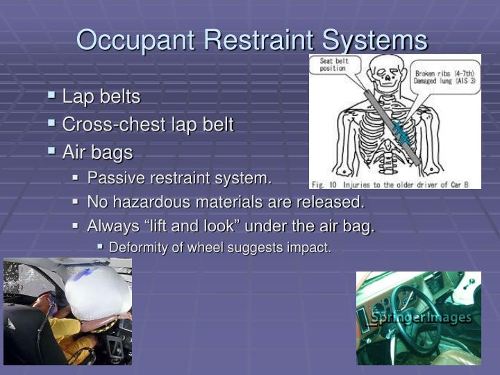 Occupant Restraint Systems