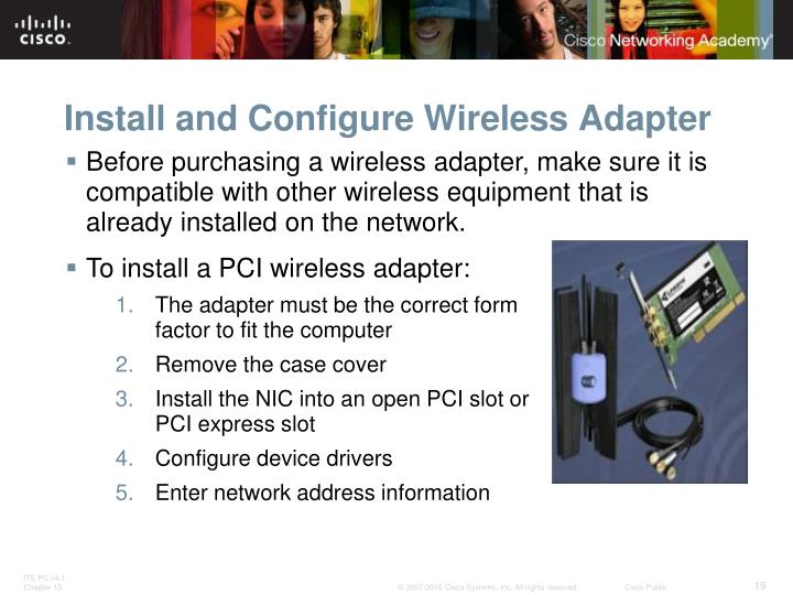Install and Configure Wireless Adapter