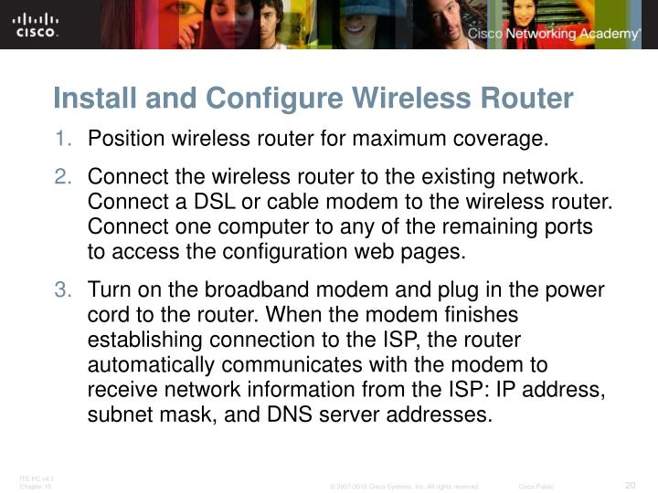 Install and Configure Wireless Router
