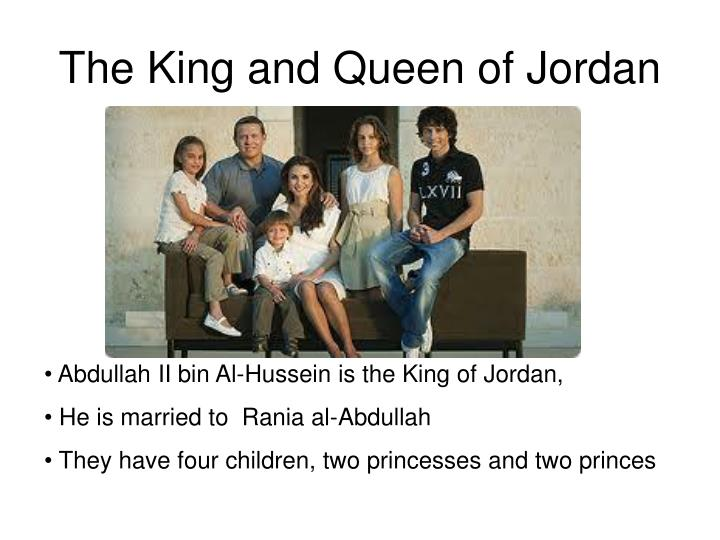 The King and Queen of Jordan