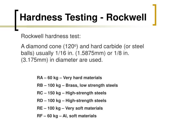 Hardness Testing - Rockwell