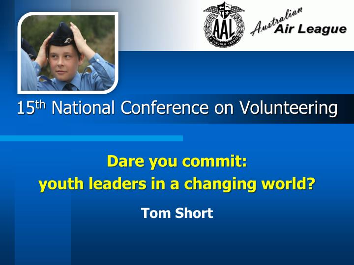 15 th national conference on volunteering n.