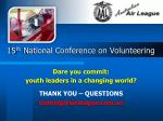 15 th national conference on volunteering1