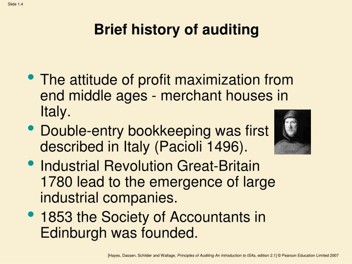 history of auditing