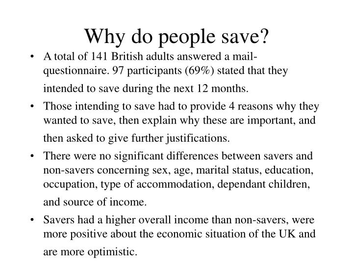 Why do people save?