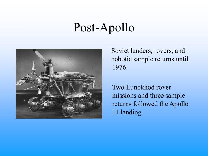 Post-Apollo
