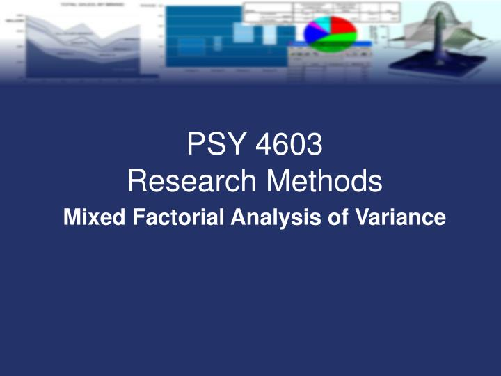 mixed factorial analysis of variance n.
