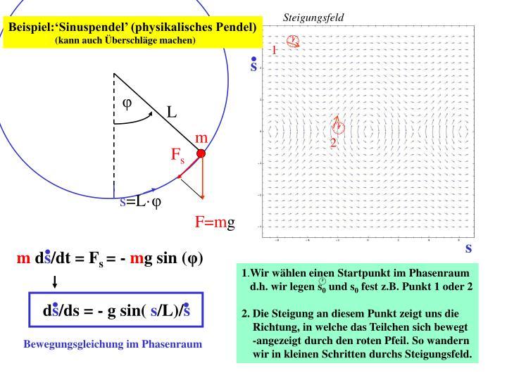Beispiel:'Sinuspendel' (physikalisches Pendel)
