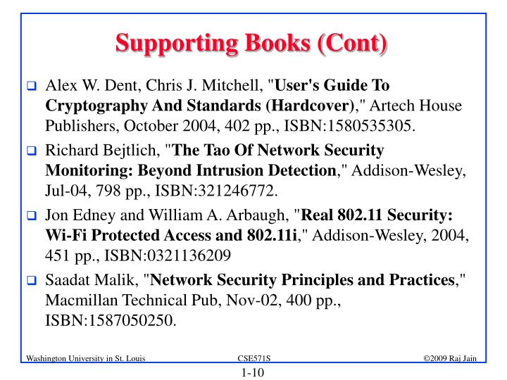 Supporting Books (Cont)