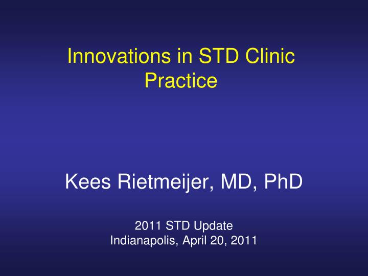 innovations in std clinic practice n.