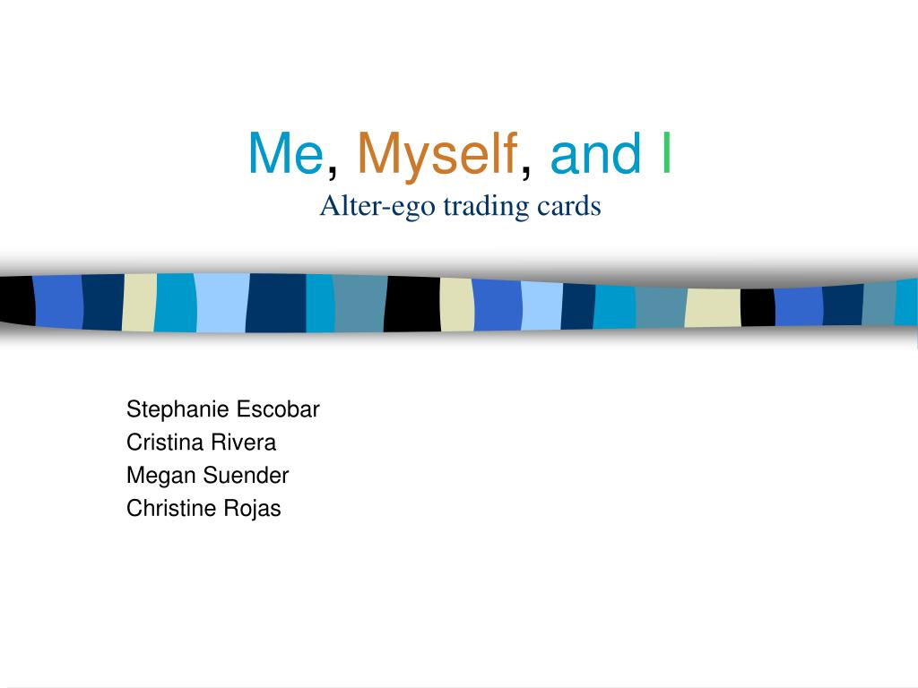 Ppt me, myself, and i alter-ego trading cards powerpoint.