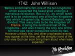 1742 john willison