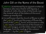 john gill on the name of the beast