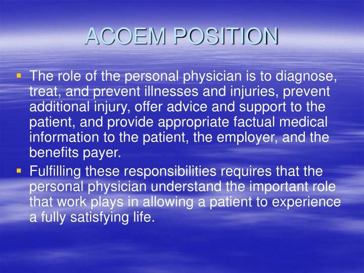 Acoem position
