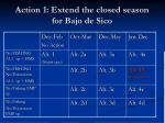 action 1 extend the closed season for bajo de sico
