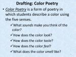 drafting color poetry
