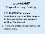 lacey mcgriff stage of writing drafting
