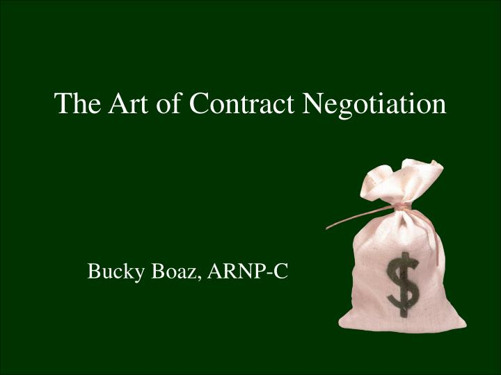 the art of contract negotiation n.