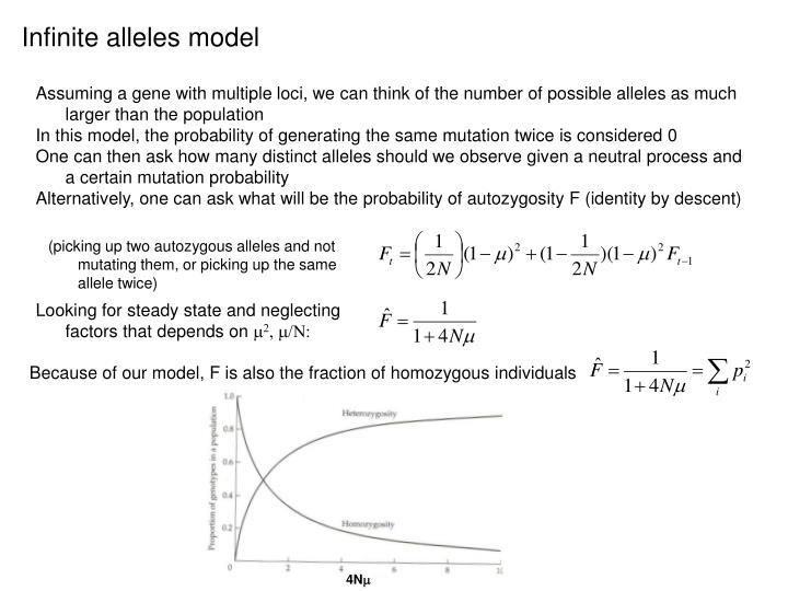 Infinite alleles model