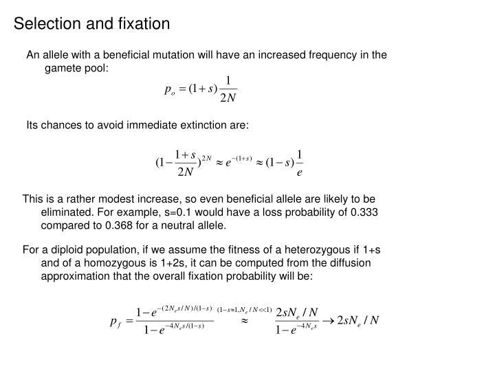 Selection and fixation