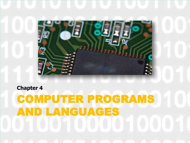 computer programs and languages n.