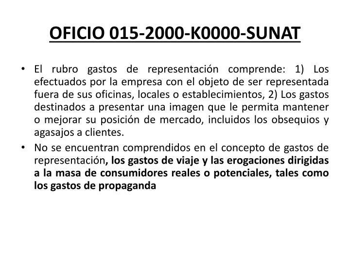 OFICIO 015-2000-K0000-SUNAT