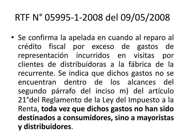 RTF N° 05995-1-2008 del 09/05/2008