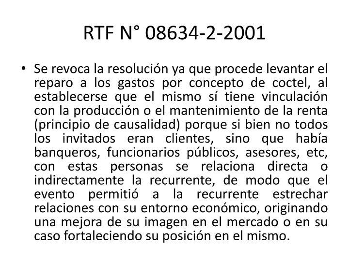 RTF N° 08634-2-2001