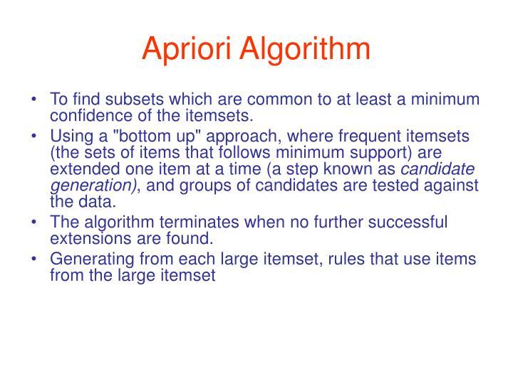 Apriori Algorithm