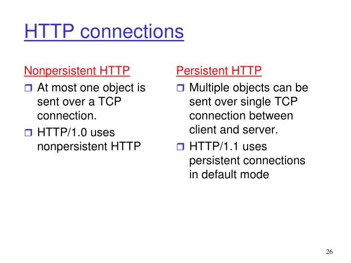 Nonpersistent HTTP