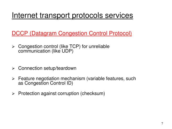 DCCP (Datagram Congestion Control Protocol)