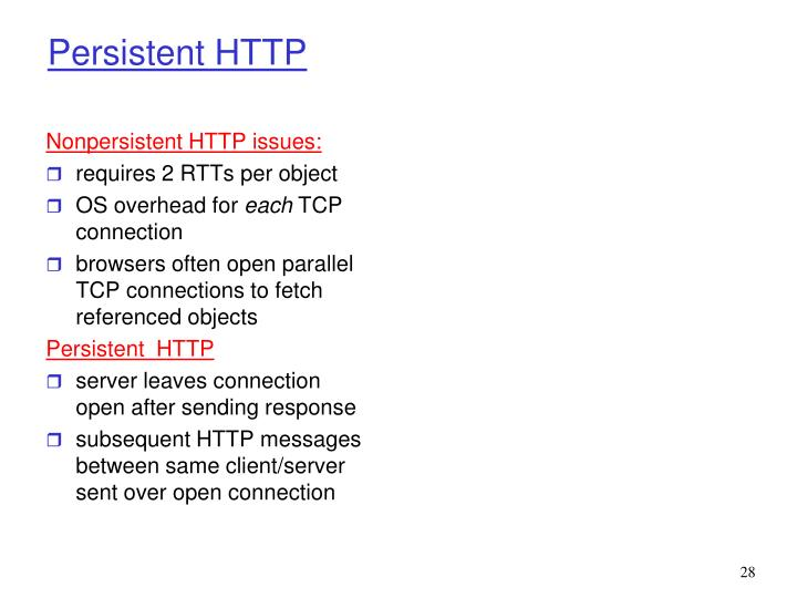 Nonpersistent HTTP issues: