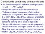 compounds containing polyatomic ions