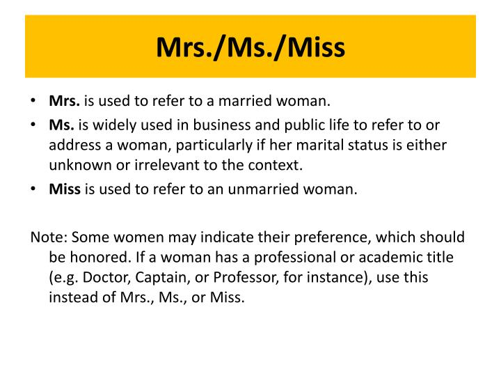 Mrs./Ms./Miss