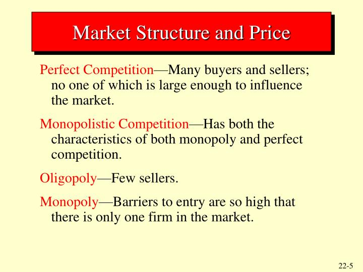 Market Structure and Price