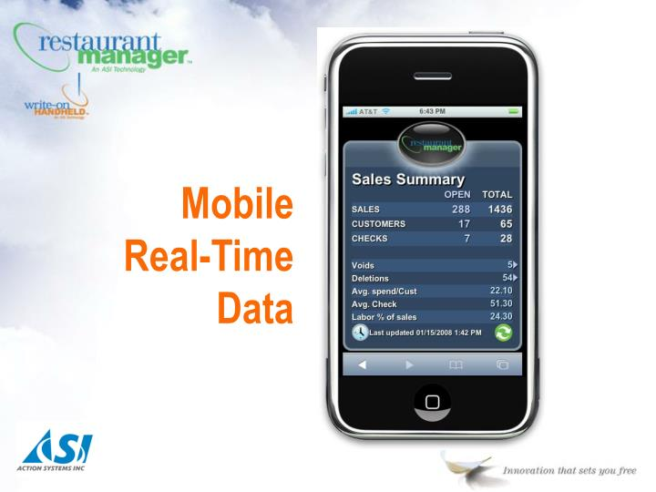Mobile Real-Time Data