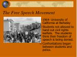 the free speech movement