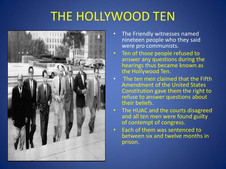 THE HOLLYWOOD TEN