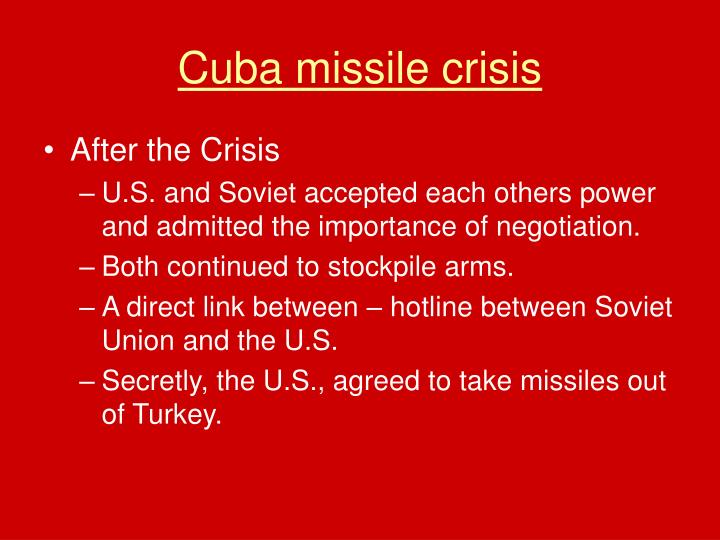 an analysis of the decision of the soviet union to place missiles in cuba The cuban missile crisis of soviet missiles in cuba and does not insist on his 40,000 soviet troops were in place in cuba for use in the.