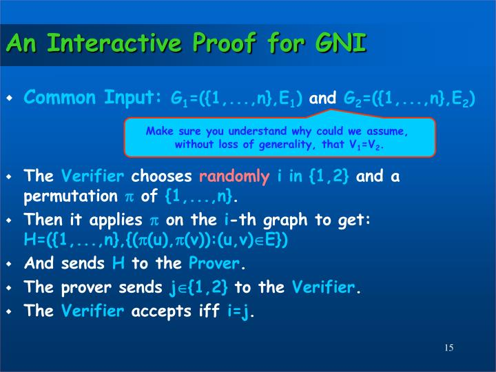 An Interactive Proof for GNI