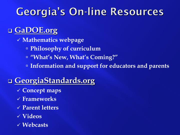 Georgia's On-line Resources