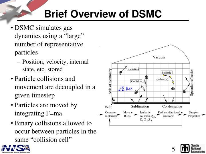 Brief Overview of DSMC