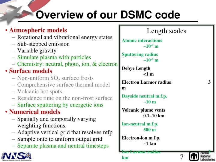 Overview of our DSMC code