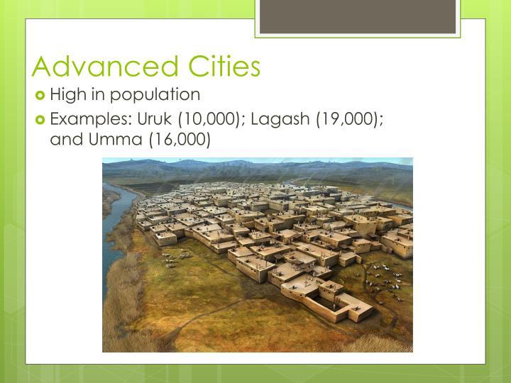 Advanced Cities