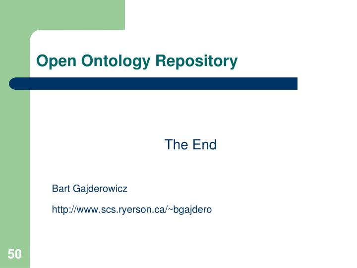 Open Ontology Repository
