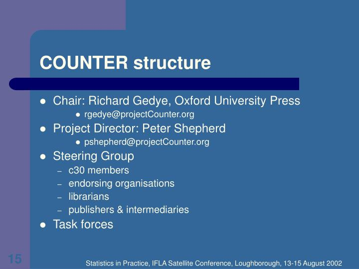 COUNTER structure